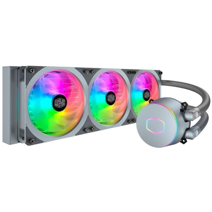 COOLER MASTER ML 360P Silver Edition - WaterCooling Processeur AIO (Intel & AMD), 3x 120mm RGB Adressable - Gris
