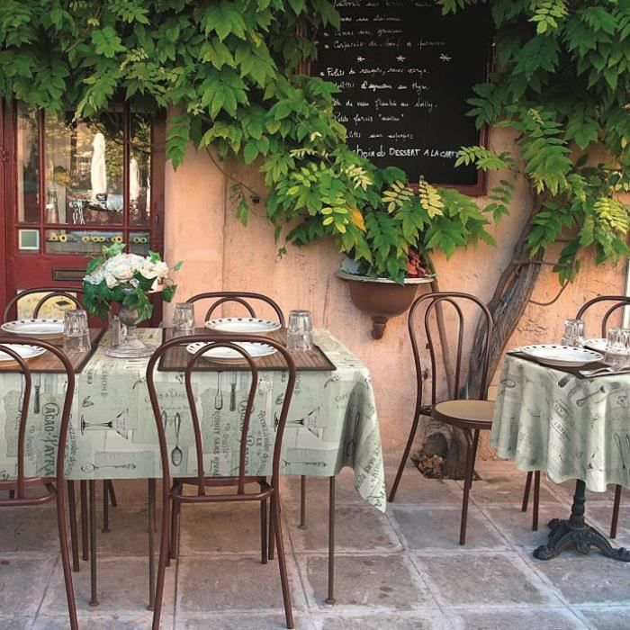 D-C-TABLE - Nappe ovale manhattan gourmet 150x250cm