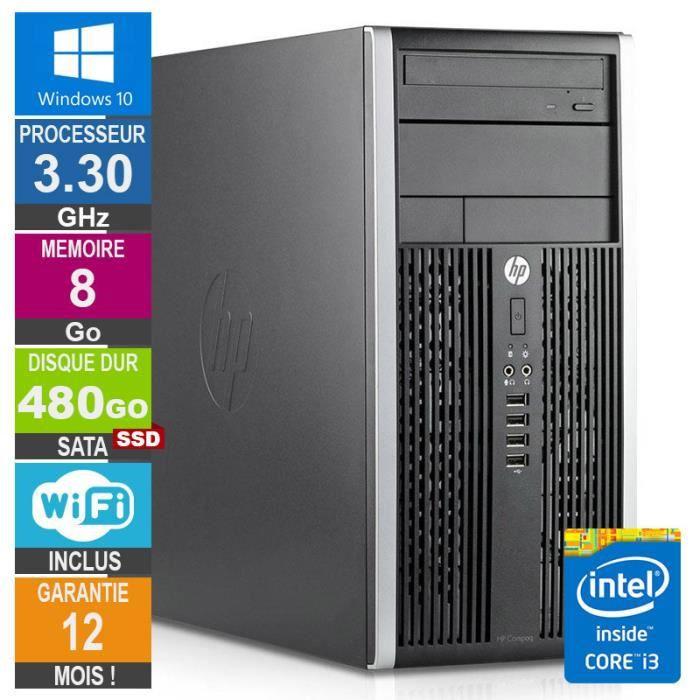 Pc Hp Pro 6300 Mt Core i3 3220 3.30Ghz 8Go 480Go Ssd Wifi W10