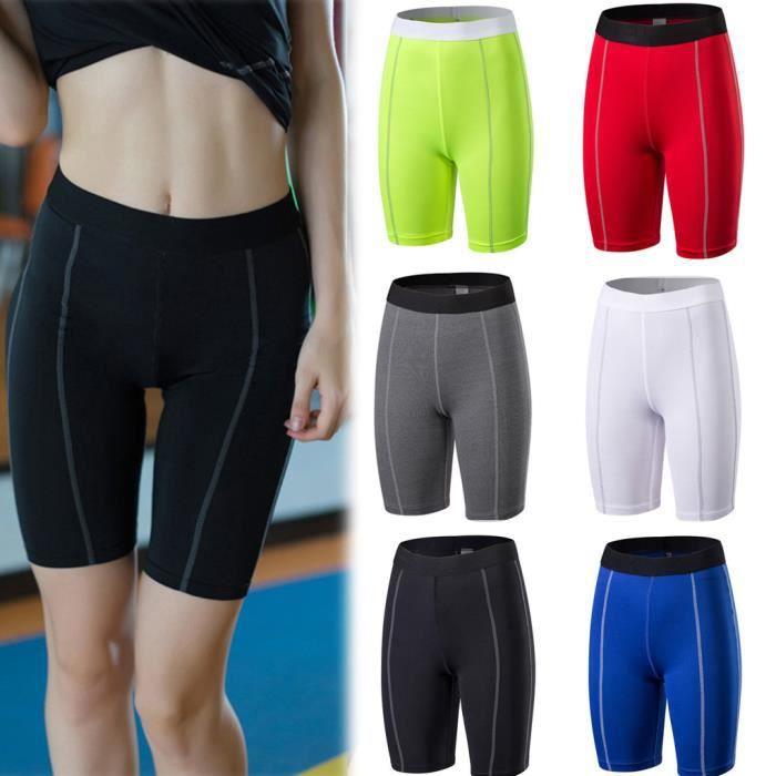 Shorts Yoga Course à Pied Shorts Workout Fitness active Mèche Tummy Pantalon de contrôle Noir