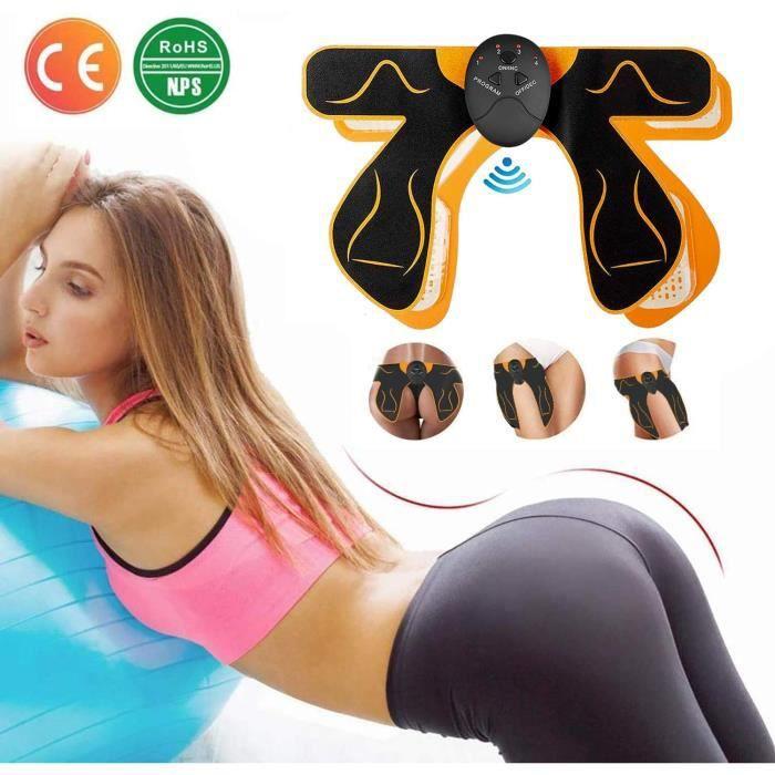 fessier+12pcsFeuille de gel ,Hips Trainer Electrostimulateurs fessier,EMS Fessier Hanche, Hip Stimulator, Electrostimulateur Muscula