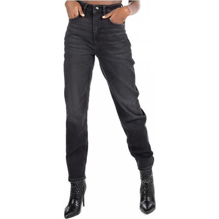 Jean mom fit taille haute - Guess jeans - Femme