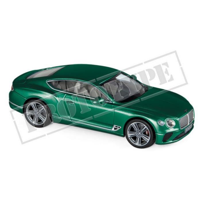 Véhicule Miniature assemble - Bentley Continental GT vert de course britannique 4 2018 1/43 Norev