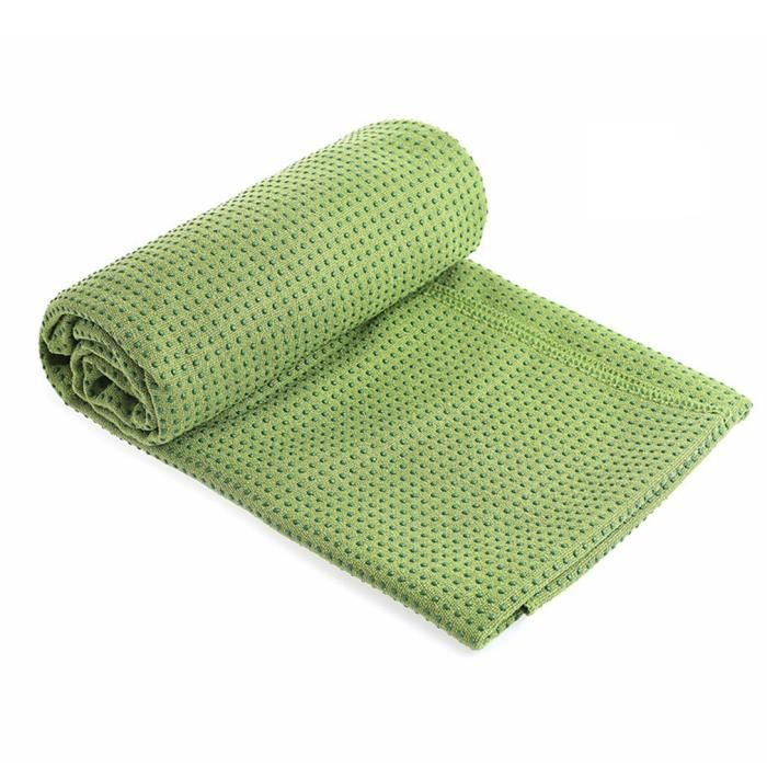 Tapis de yoga drapé antidérapant vert,avec sac de yoga