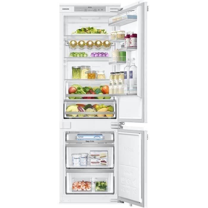 SAMSUNG - BRB260134WW - Réfrigérateur Combiné intégrable - 267L (195L + 72L) - Froid ventilé intégral - A++ - L54cmxH177,5cm - Blanc