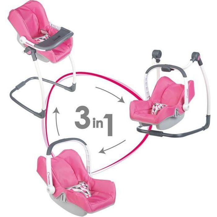 SMOBY Bébé Confort Chaise Haute 3 en 1