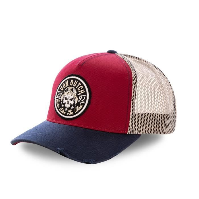 Vondutch - Casquette baseball filet Von Dutch Biker Rouge