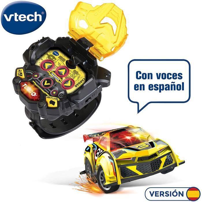 VTech - Turbo Force Racer Jaune Mini Voiture télécommande Rechargeable, Couleur (3480-197622) 4136