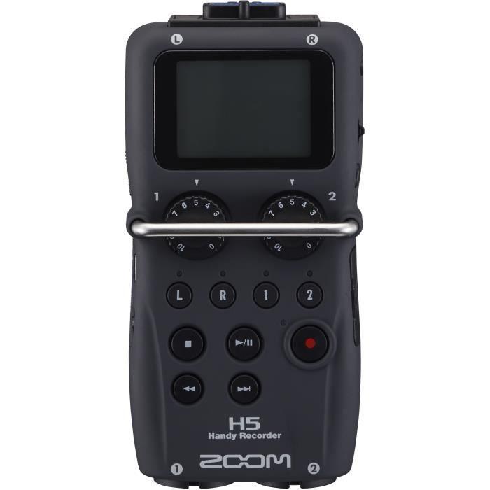 Zoom H5 Enregisteur multipiste numérique 4 pistes à microphones intercheangeables - potentiomètres de gain analogiques