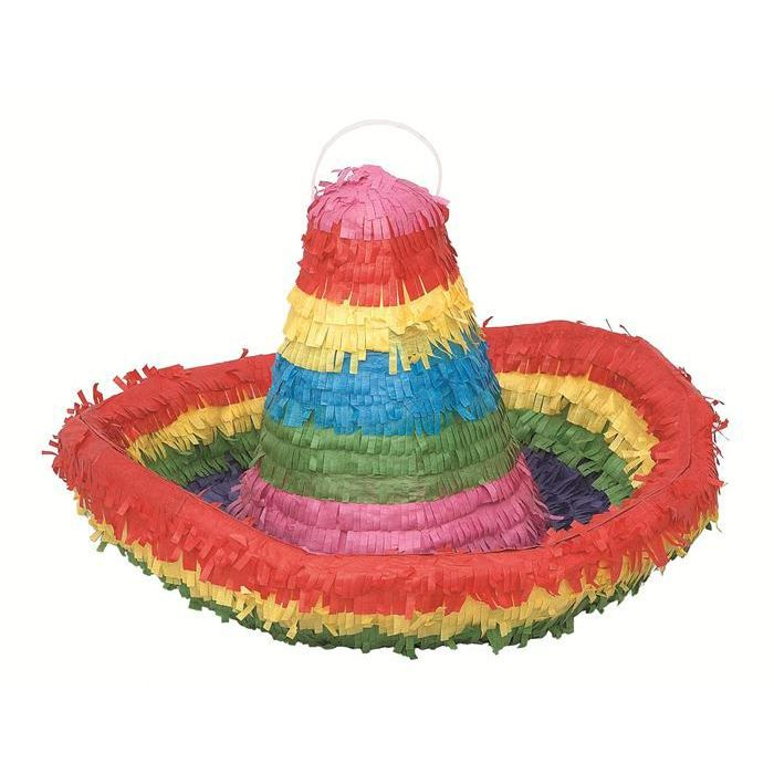 pinata sombrero mexicain achat vente confettis carton. Black Bedroom Furniture Sets. Home Design Ideas