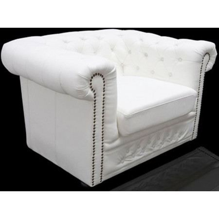 fauteuil chesterfield xl blanc achat vente fauteuil. Black Bedroom Furniture Sets. Home Design Ideas