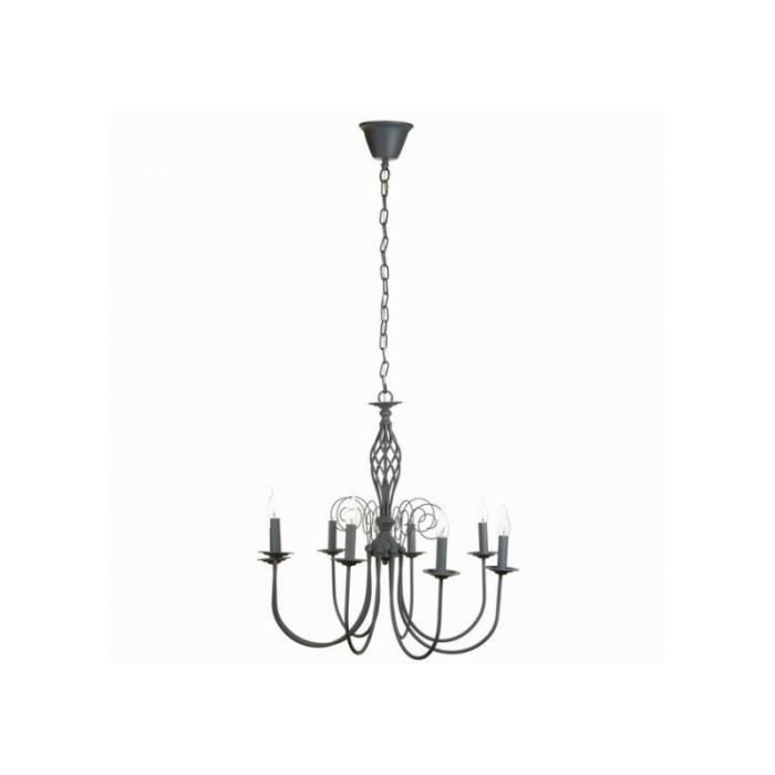 grand lustre chandelier gris romantique elsa achat vente grand lustre chandelier gris. Black Bedroom Furniture Sets. Home Design Ideas
