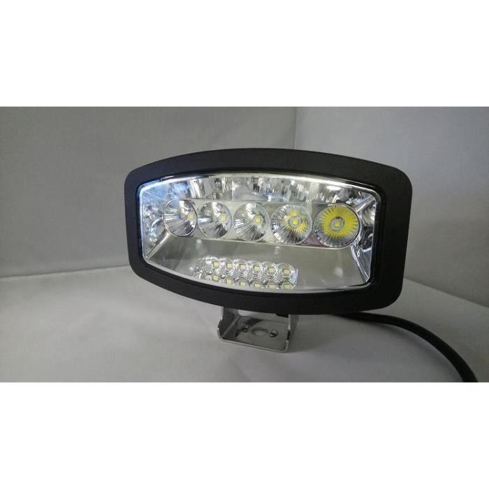 SUV 2 x 258 W Phare de travail LED LTPAG 7 24000LM Phare auxiliaire voiture 12 V 24 V Phare de recul LED IP68 Phare antibrouillard universel pour camion tracteur ATV Offroad remorque