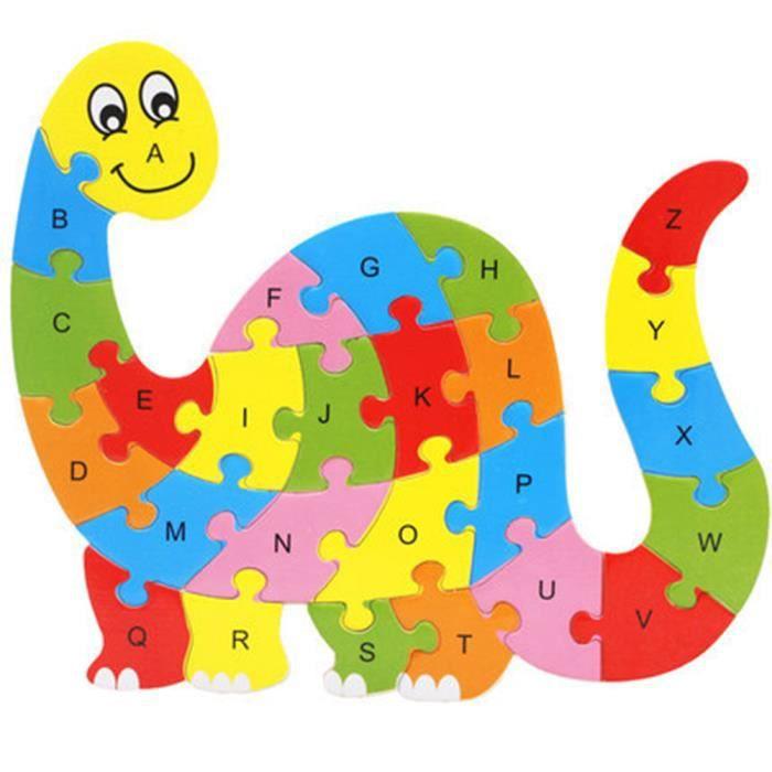 PERSONNAGES ET ANIMAUX Caravan® Coloré Puzzle en Bois 3D Alphabet Jeux Ed