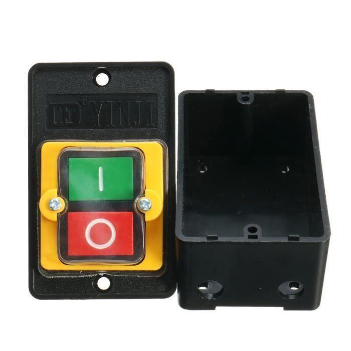 Heschen Interrupteur /à bascule ON//OFF Dpst On-Off 4/bornes lumi/ère rouge 16/A 250/VAC avec housse imperm/éable