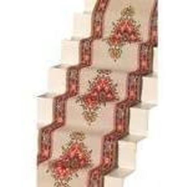 Melody Jane Dolls House Tissé D/'escalier Tapis Runner Gris Beige 1:12 revêtement de sol