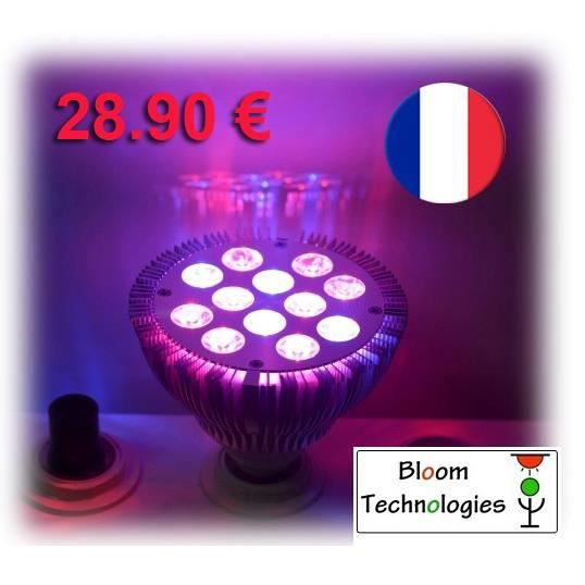 ampoule lampe phyto led horticole 36 watts floraison culture int rieure hydroponie indoor. Black Bedroom Furniture Sets. Home Design Ideas