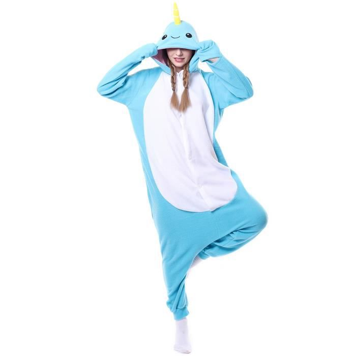 Adulte Pyjama Tenue Anime Halloween Blue Kigurumi Whale Cosplay Samgu qwF1An