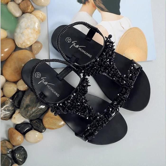 SANDALE - NU-PIEDS Chaussures Femme Confort Sandales d'été en mode Gl