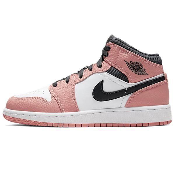 Air Jordan 1 Mid Rose Quartz Chaussures de Basket Pas Cher pour ...