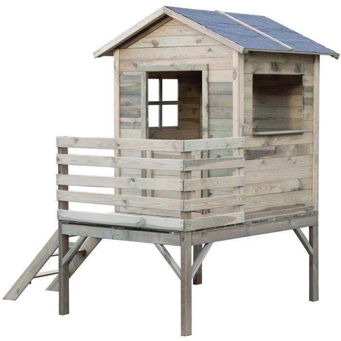 MAISONNETTE EXTÉRIEURE KOOLKIDS Maison cabane en bois sur pilotis - Haute