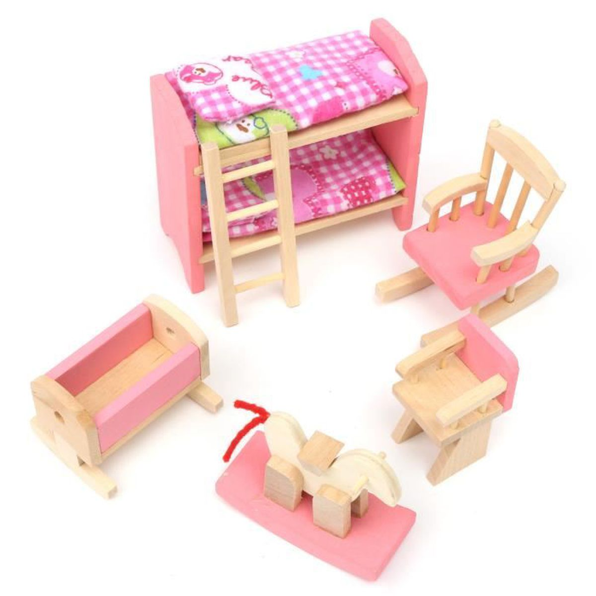 meuble poup e mobilier maison d ette bois jouet enfant barbie espace b b achat vente maison. Black Bedroom Furniture Sets. Home Design Ideas