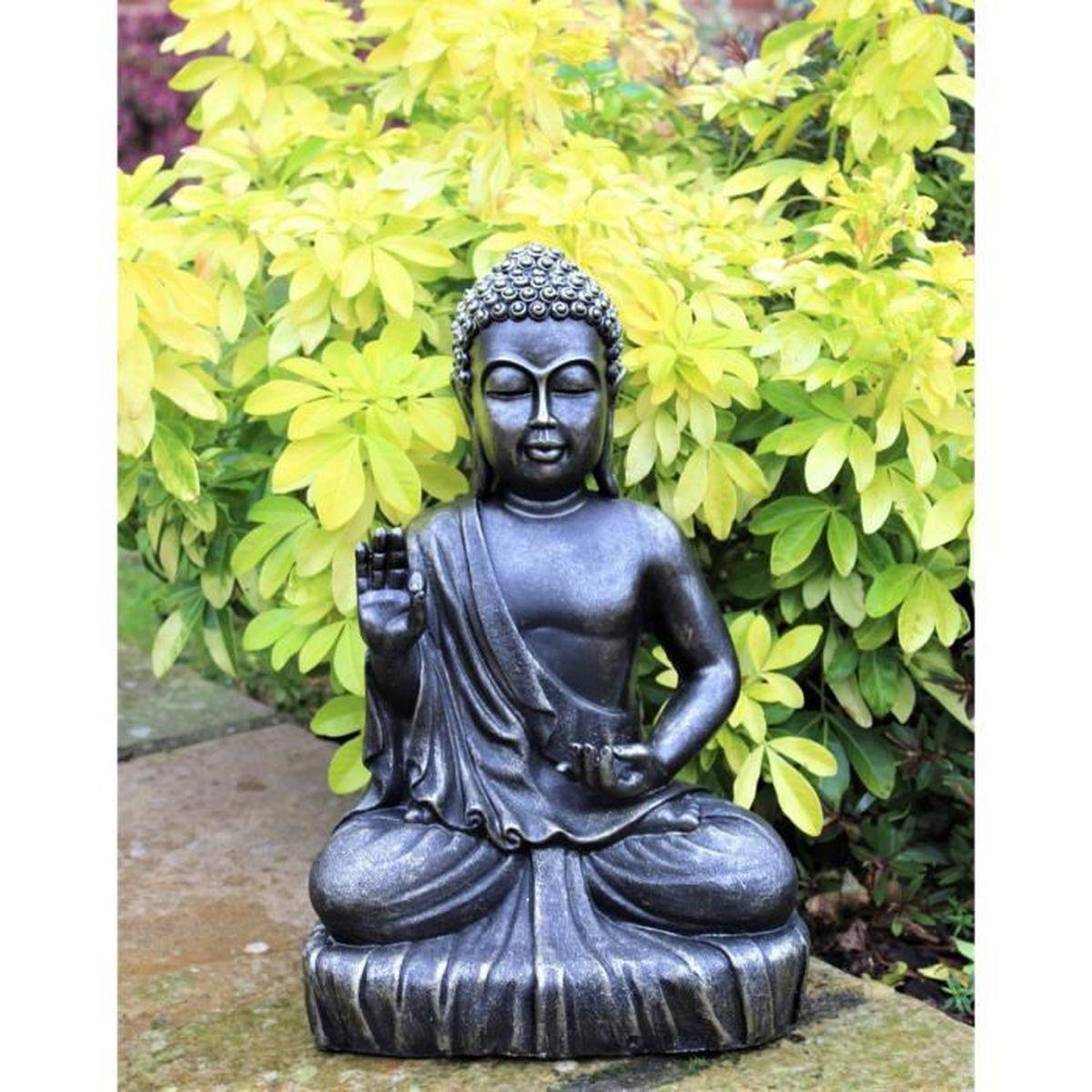 Sculpture Femme Ronde Colorée statue bouddha effet bronze extérieur intérieur décoration