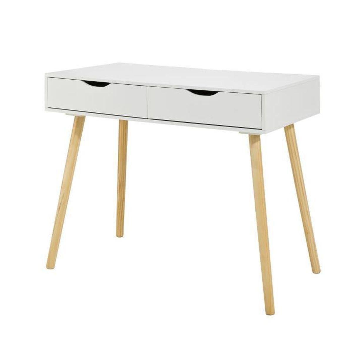 Bureau Plan De Travail sobuy® fwt40-wn table de bureau informatique secrétaire