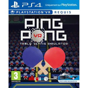 JEU PS VR Ping Pong Table Tennis Simulator Jeu PS4 VR