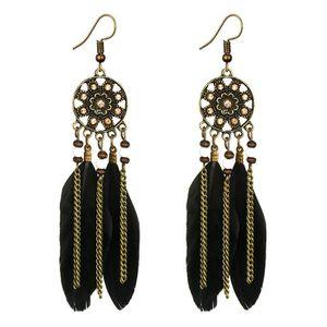 Multi-couche de plume de paon longue boucle d/'oreille Handmade Eardrop Fashion femme Cadeau