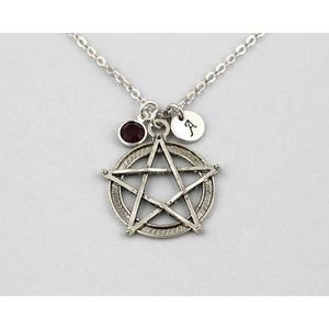 Pendentif en Argent Sterling 925/pentagramme N /° 230