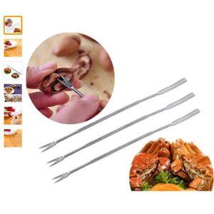 ECONOME - ZESTEUR Fourchette Crustacés - Acier Inoxydable - 2 Pièces