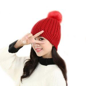 BANDEAU - SERRE-TÊTE Mode Femmes Chapeau Bonnets d'hiver Bonnets tricot