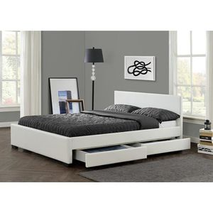 lit avec rangement 140x190 achat vente lit avec. Black Bedroom Furniture Sets. Home Design Ideas