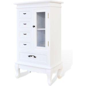 ARMOIRE DE CHAMBRE Magnifique Armoire blanche avec 5 tiroirs et 2 eta