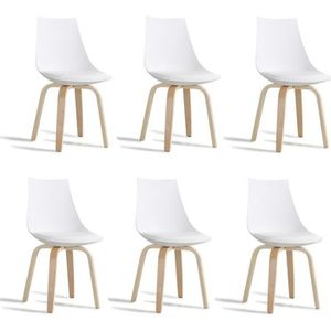 Chaise scandinave blanche achat vente chaise scandinave blanche pas cher - Lot de 6 chaises blanches ...