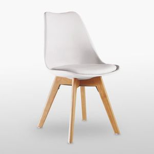 CHAISE Chaise Lorenzo Style Scandinave Blanche