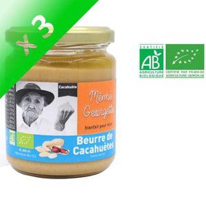 BEURRE DE CACAHUÈTE MEME GEORGETTE Beurre de cacahuète bio - 250 g (Lo