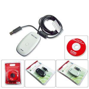 CÂBLE JEUX VIDEO PC USB Récepteur de jeu pour xbox 360 blanc