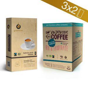 CAFÉ Coffret Bio & Commerce équitable- 60 capsules de c