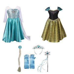 DÉGUISEMENT - PANOPLIE Fille Princesse Elsa Anna Disney Costume Déguiseme