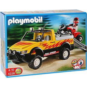 UNIVERS MINIATURE Playmobil Pick up & Quad de Course Rouge