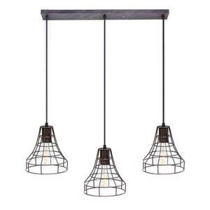 LUSTRE ET SUSPENSION TEMPSA Lustre Cage Contemporain - lampe barre de p