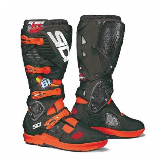Bottes de protection pour moto Noir Orange