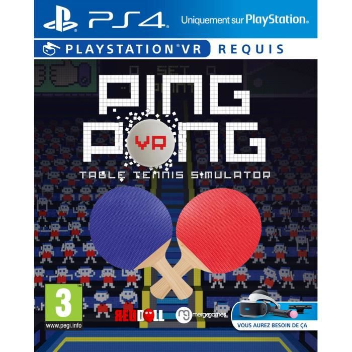 ping pong table tennis simulator jeu ps4 vr achat vente jeu ps vr ping pong table tennis ps4. Black Bedroom Furniture Sets. Home Design Ideas