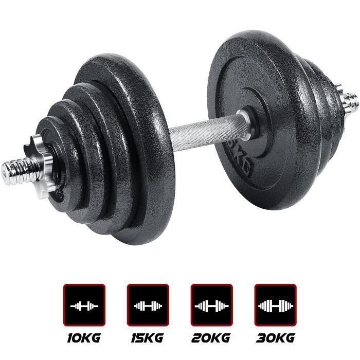 arteesol d'Haltères, Haltères en Fonte Ensemble d'haltères 20kg pour Les Professionnels du Fitness