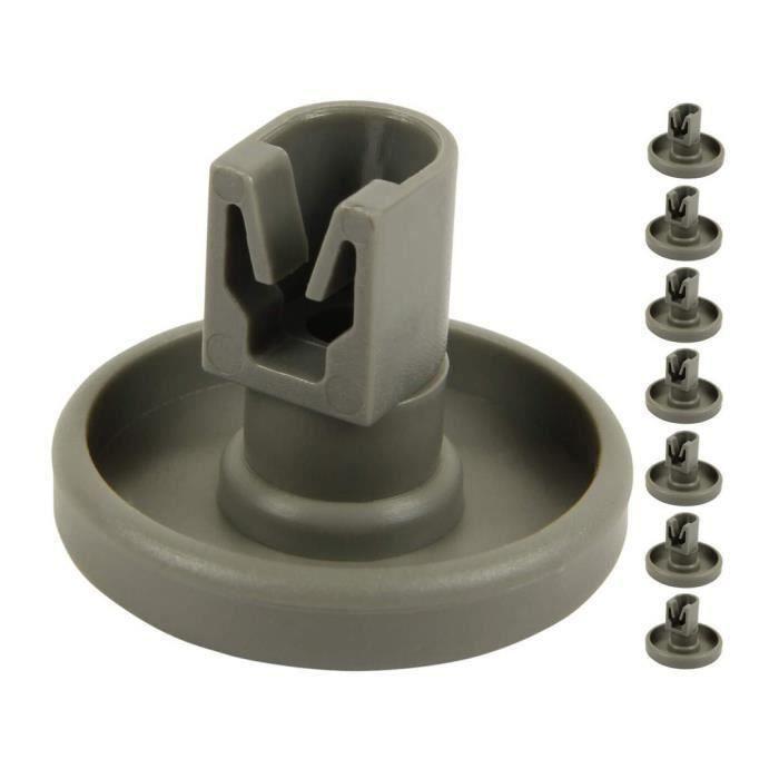 Kit de réparation d'accessoires de pièce de rouleau de roue de panier inférieur de lave-vaisselle en plastique 8pcs Outils ménagers