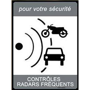 Plaque METAL 40X30cm PANNEAU RADAR Controles Radars Frequents