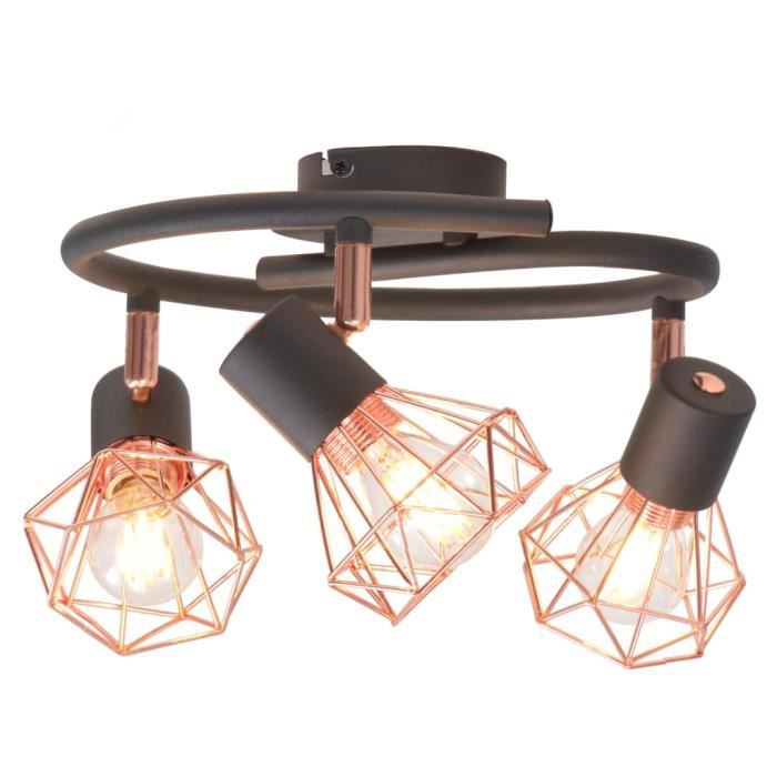 Plafonnier Moderne décor - Lumière Lampe de Plafond Lustre Cuisine salon chambre - Plafonnier Industrielle avec 3 projecteu ®BJXZNZ®