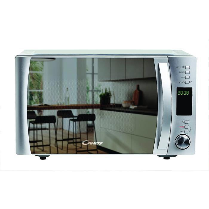 FOUR Candy Cmxg25Gdss Four micro-ondes avec grill et application Cook in 40 programmes automatiques Argent&eacute 1 250 W 25 l234